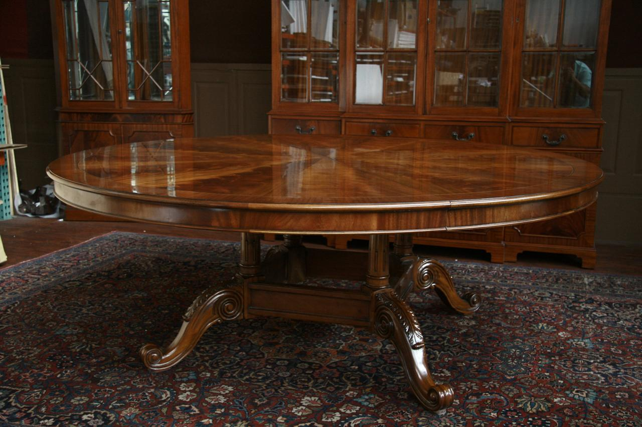 Dining room furniture high end furniture formal dining for Large round dining room table