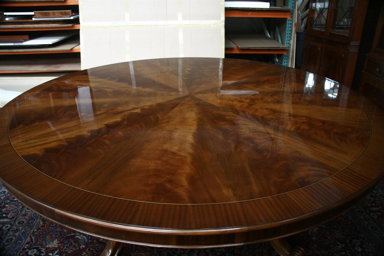 Large Oversized Round Dining Table Large Round Mahogany
