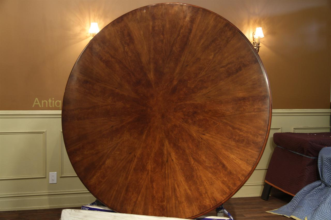 Large One Piece 66 Inch Round Pedestal Dining Table