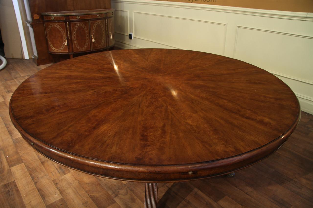 Expandable Round Walnut Dining Table Formal Traditional - Walnut color dining table