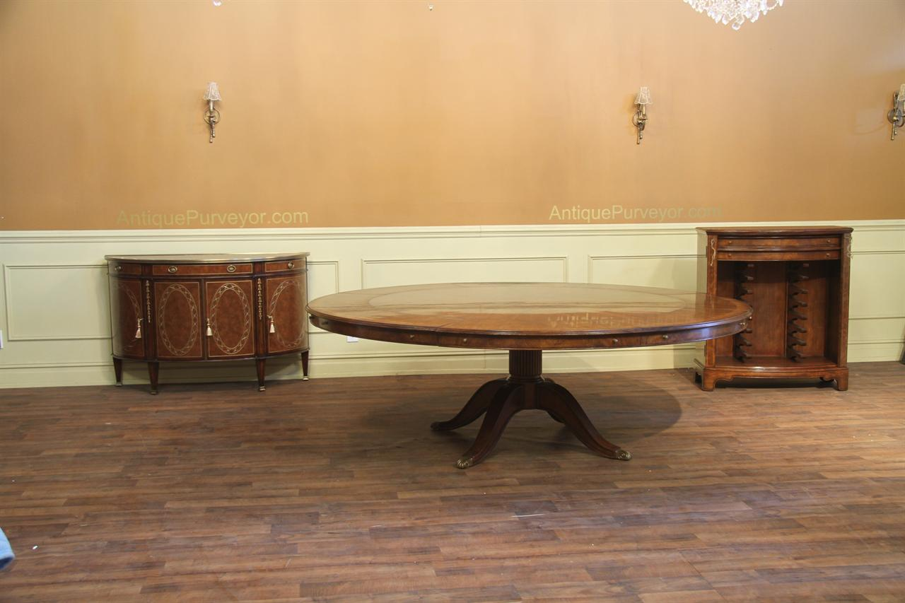 Dining Room Tables With Leaves expandable round walnut dining table | formal | traditional