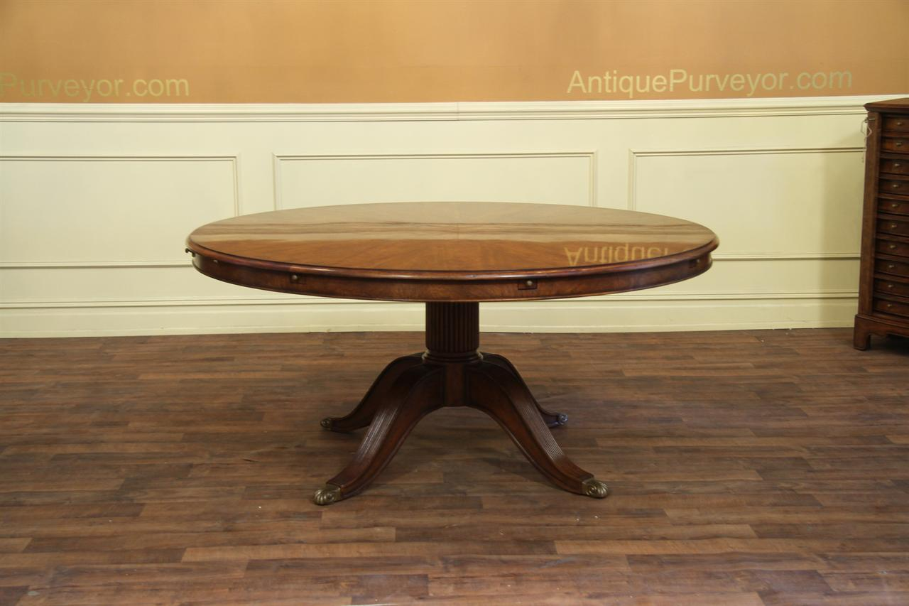 Buffet Table With Storage Underneath ~ Expandable round walnut dining table formal traditional