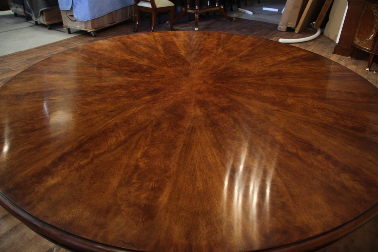 Wonderful Expandable Round Walnut Dining Table | Formal | Traditional TK32