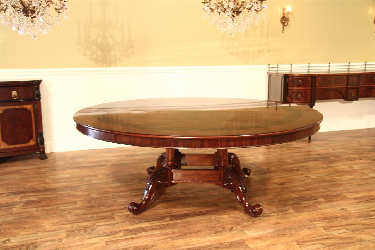 oka oak arthur room dining table burnt round l