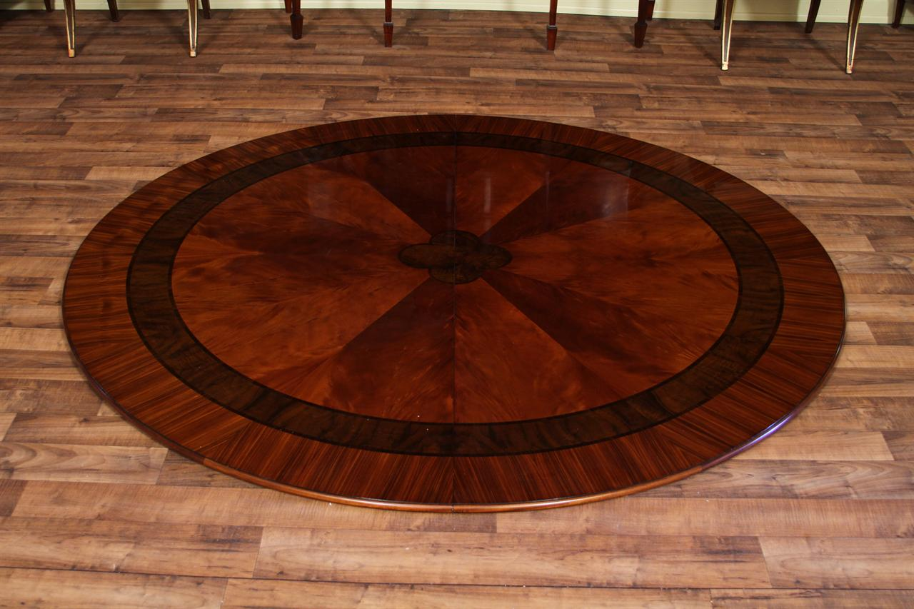 large round mahogany dining room table 84 round dining table