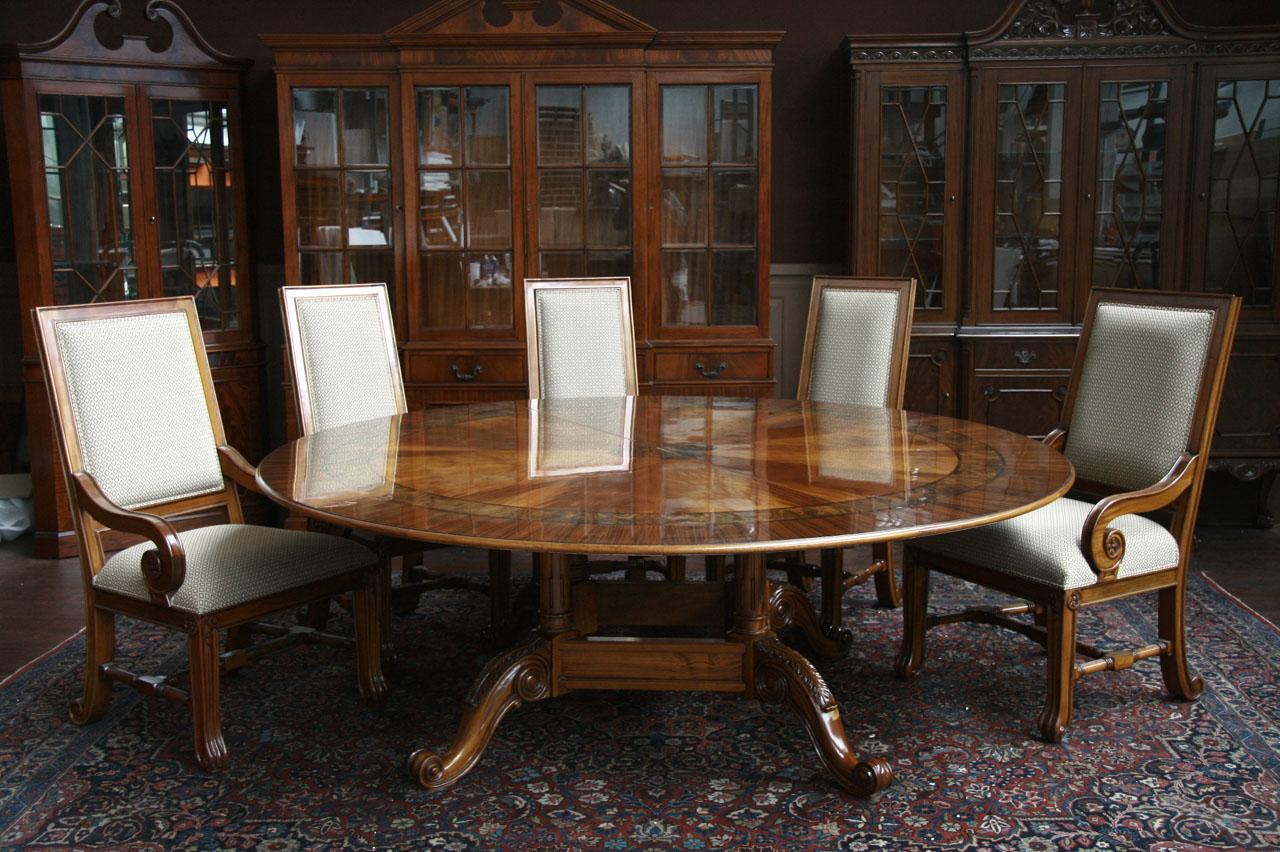 Large round dining table 84 round dining table round for Large dining chairs