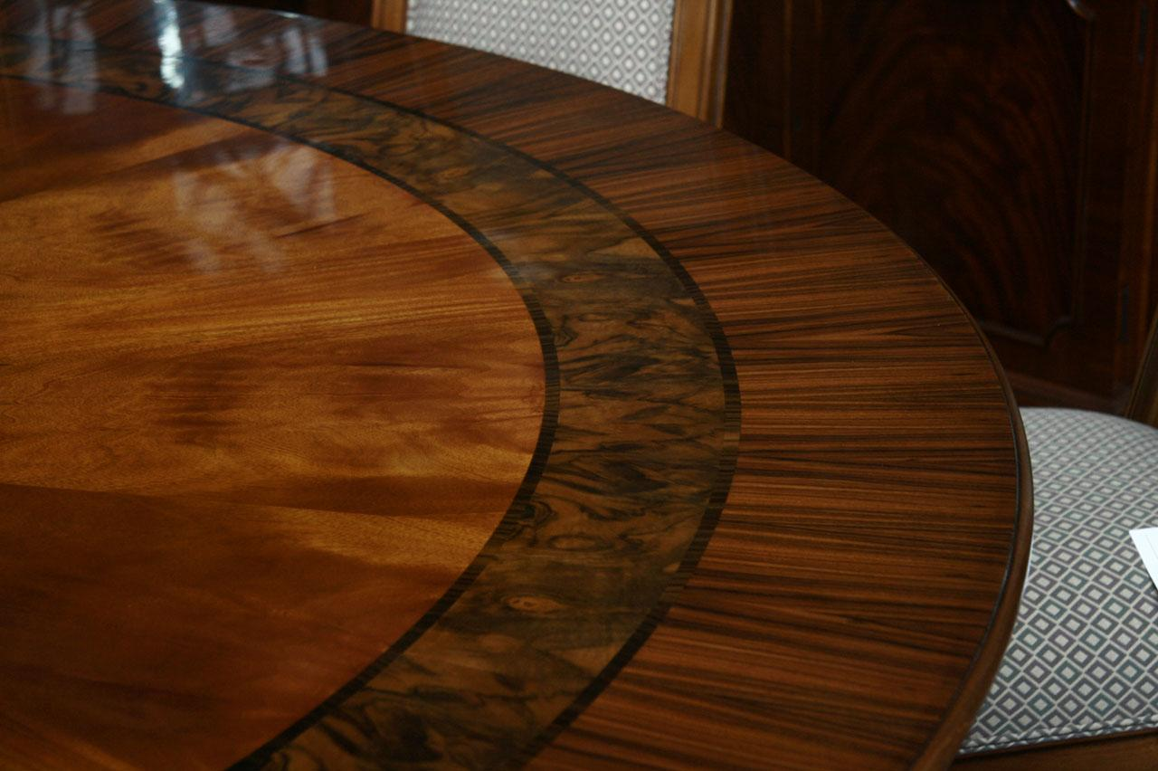 Large round mahogany dining room table 84 round table ebay for Large round dining table