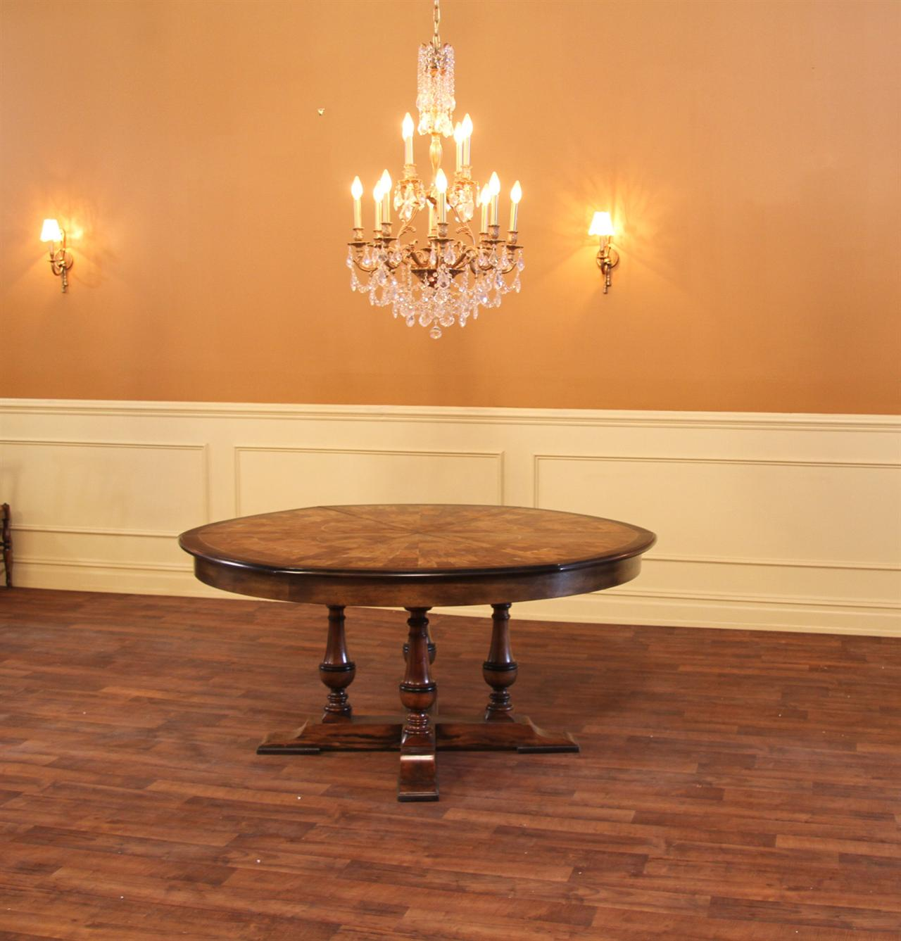Dining Room Tables With Leaves: Large Round To Round Dining Jupe Table