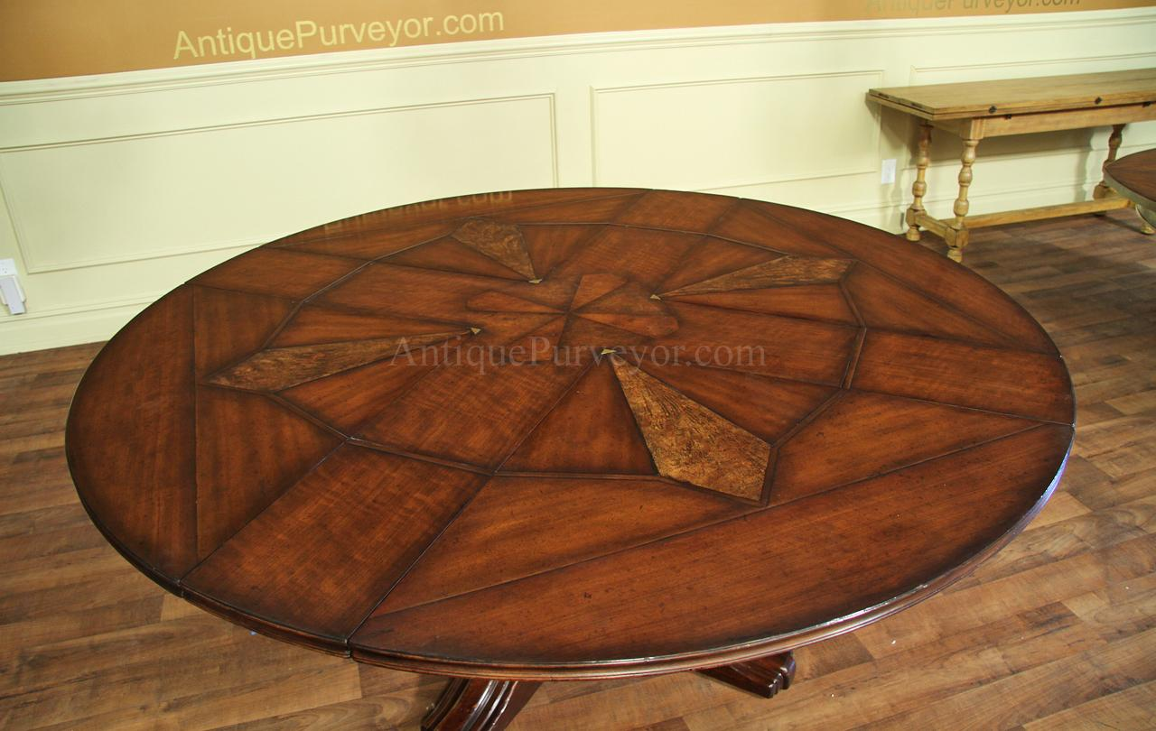 Jupe Table for Sale with Self Storing Leaves Round Dining Table