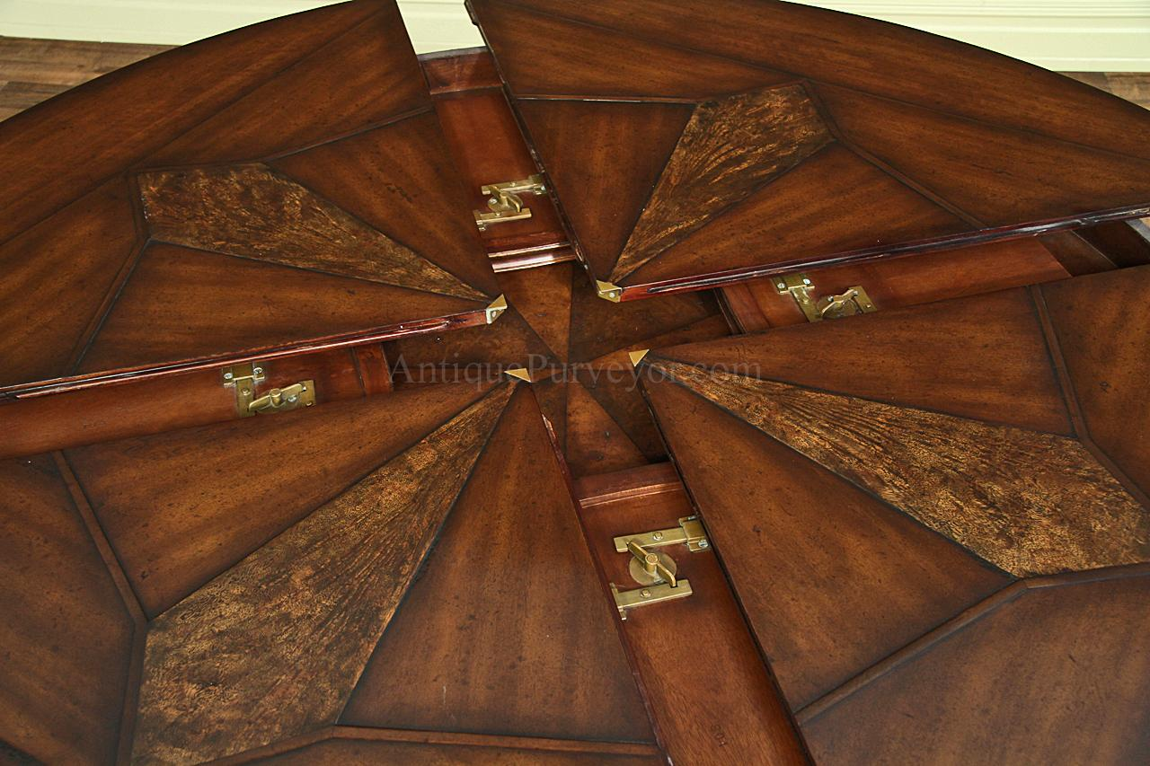 Jupe Table for Sale with Self Storing Leaves:Round Dining Table