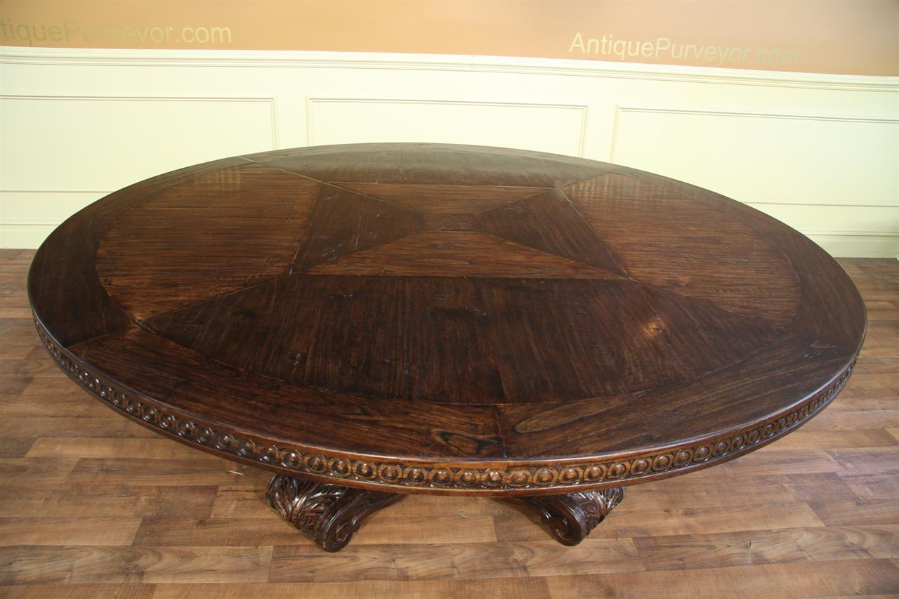Antique Round Oak Dining Table - Starrkingschool