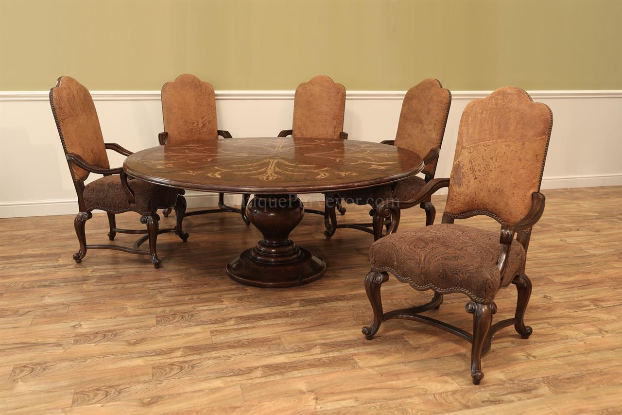 Upholstered Paisley Dining Room Chairs