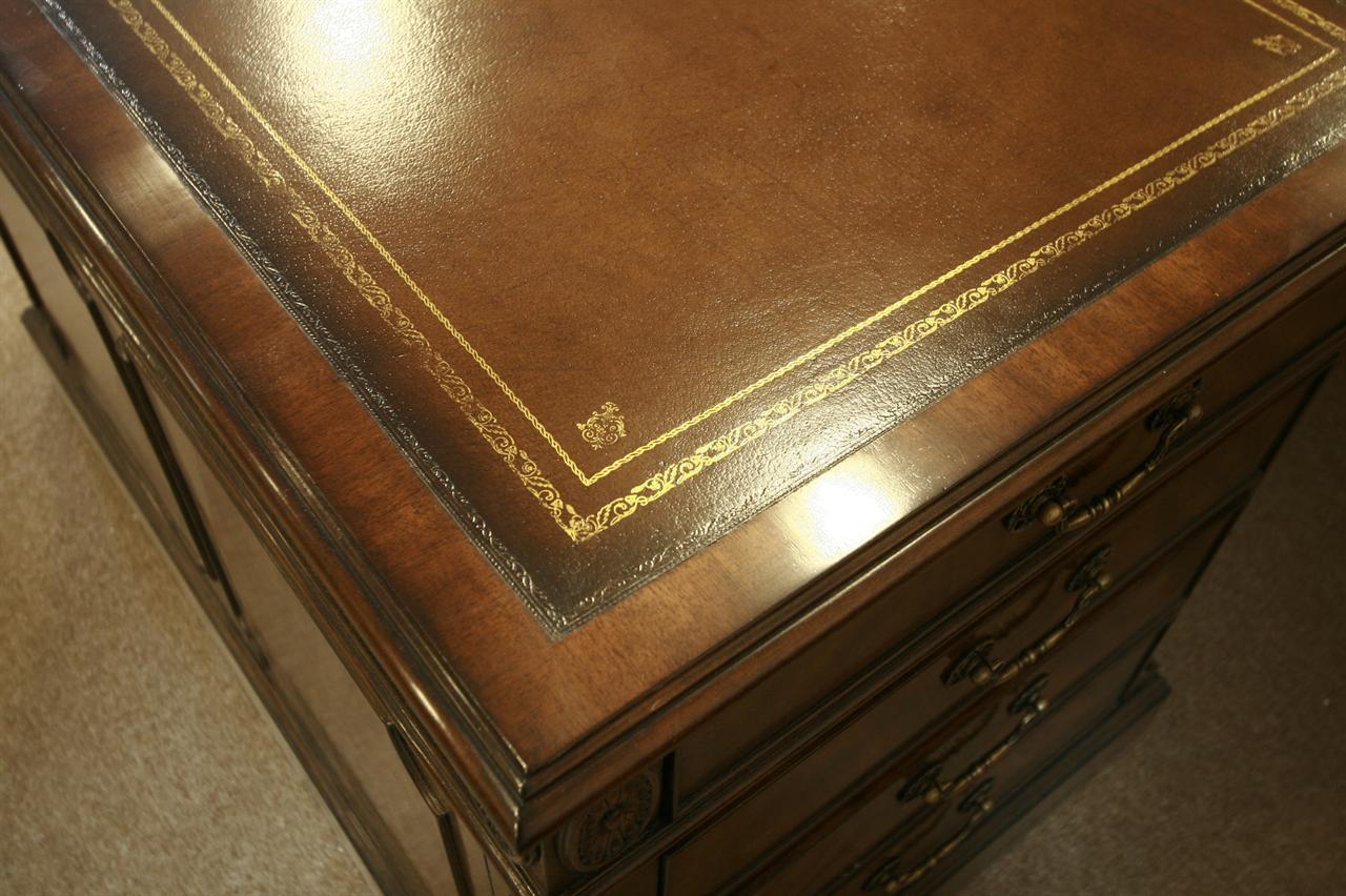 Leather Top Desk Mahogany Executive