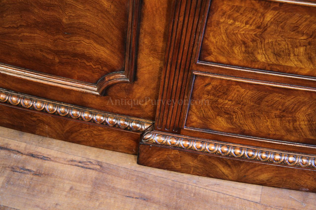 Antique reproduction desk shown in a traditional office - Leather Top Mahogany Executive Desk, Fine Antique Reproducti
