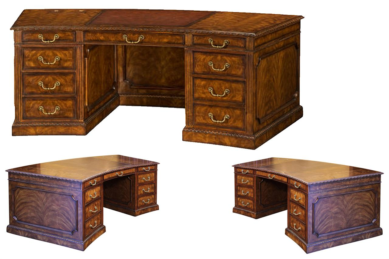 High End Leather Top Executive Desk