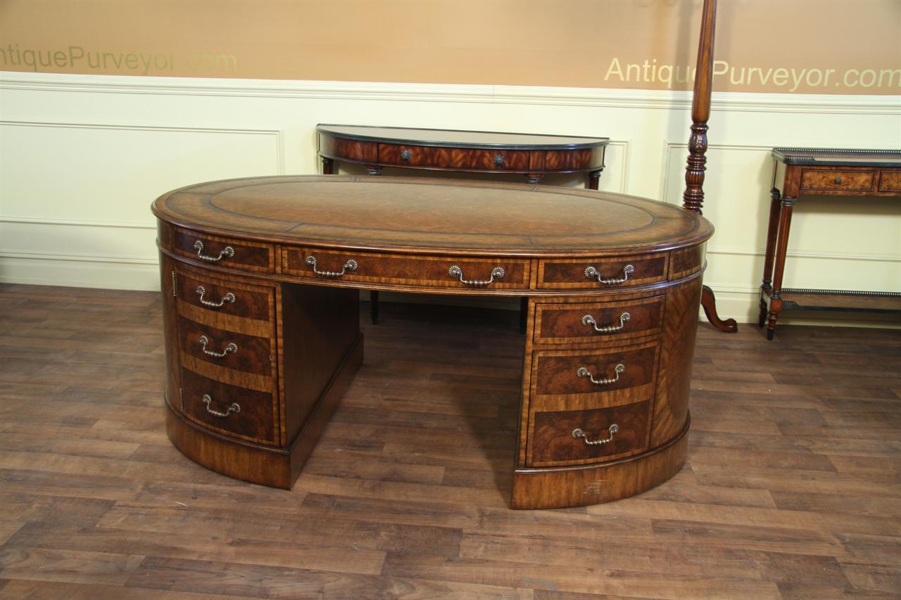 Maitland Smith Walnut Burl Partners Desk 8108 53