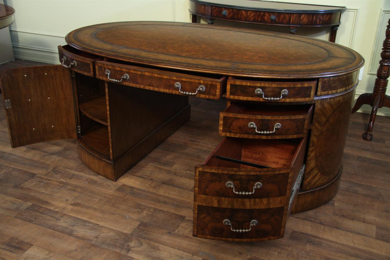 Maitland Smith Walnut Burl Partners Desk 8108 53