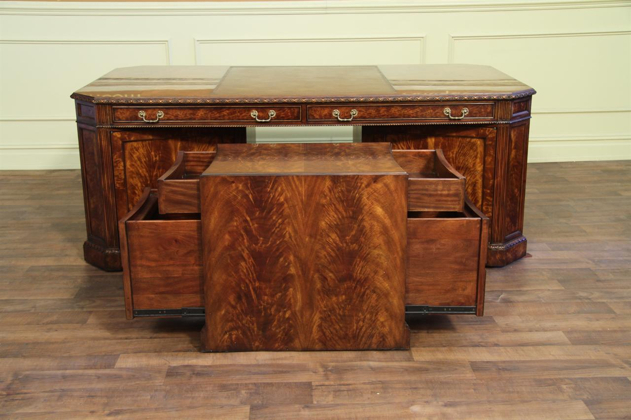 Leather Top Partners Desk File For The Traditional High End Office