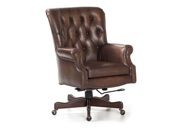 leather chair with nail heads