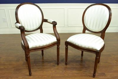 Louis XIV French Style Round Back Dining Chairs