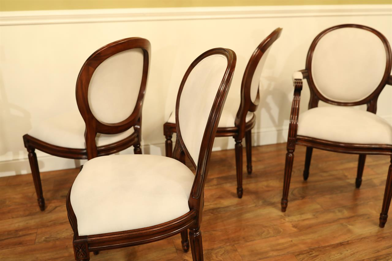 Solid Mahogany Dining Chairs. Louis XIV ...