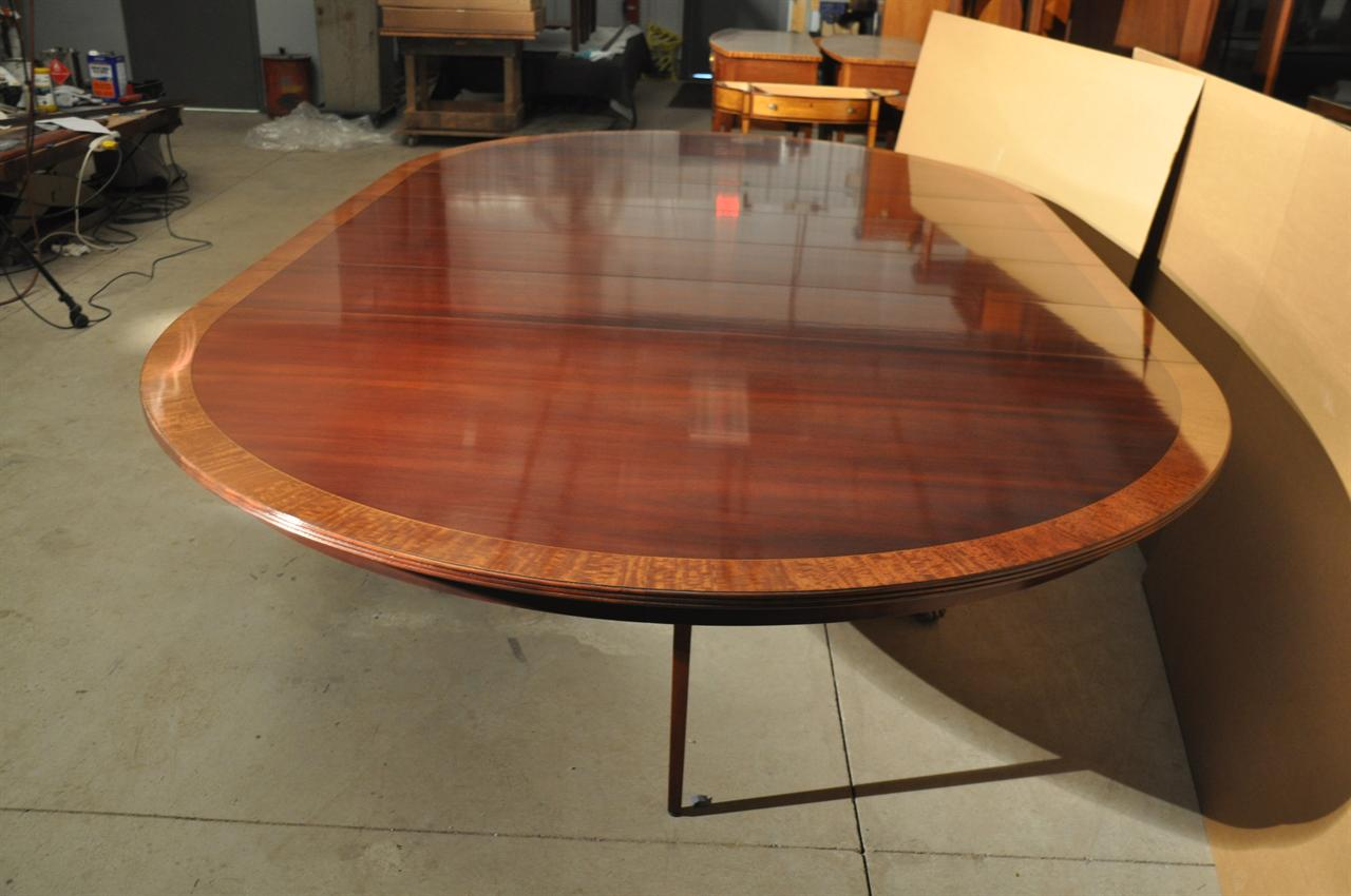72 round dining table with leaf - Luxurious American Made 72 Inch Round To Oval Dining Table U0026 4 Leaves
