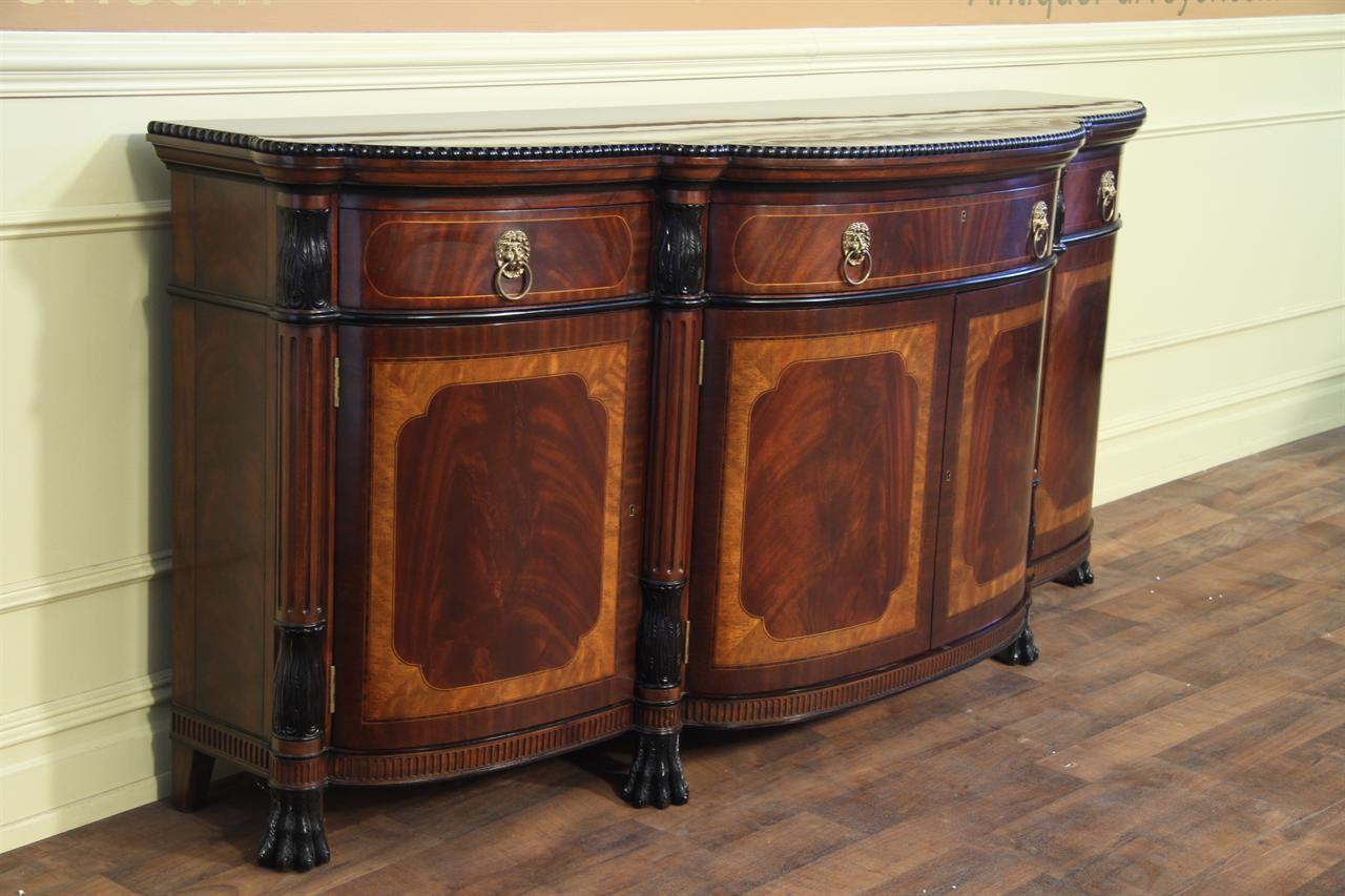 Luxurious Regency Style Mahogany Sideboard For Sale