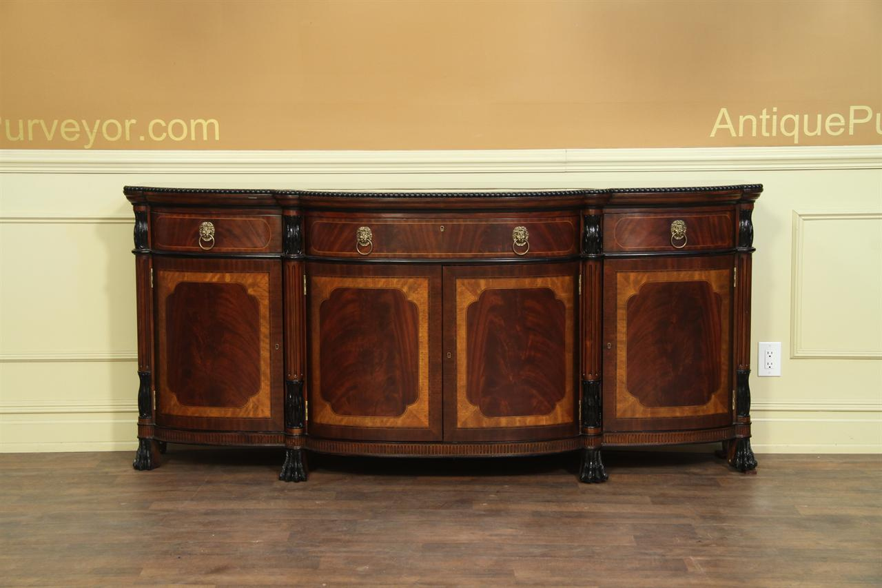 Luxurious Regency style banded mahogany dining room sideboard
