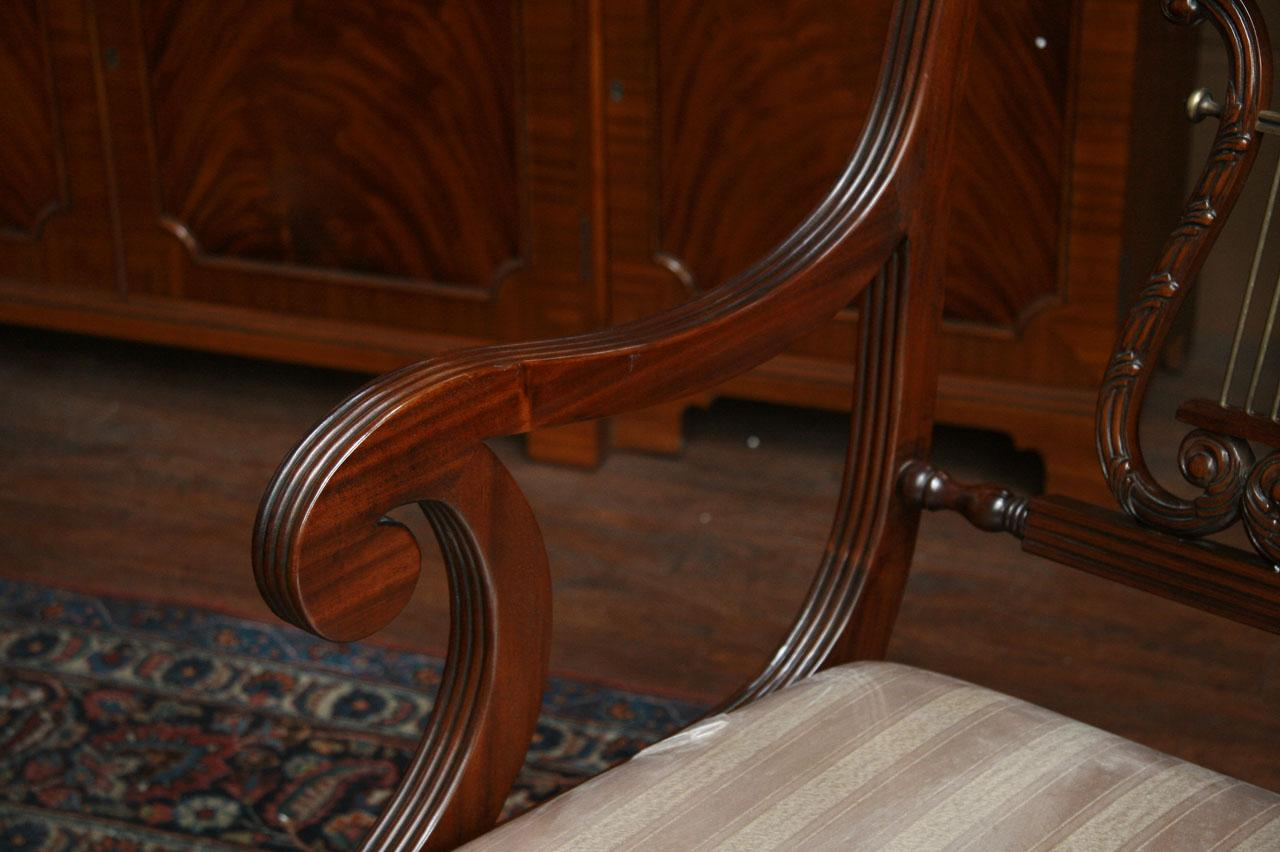 Lyre Back Dining Chairs Harp
