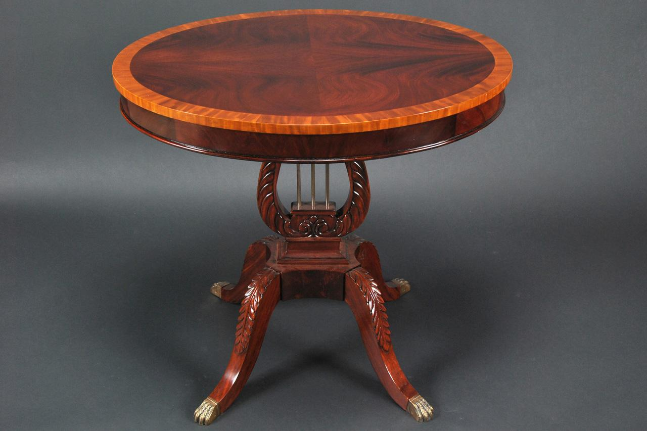 Mahogany 32 Inch Diameter Duncan Phyfe End Table