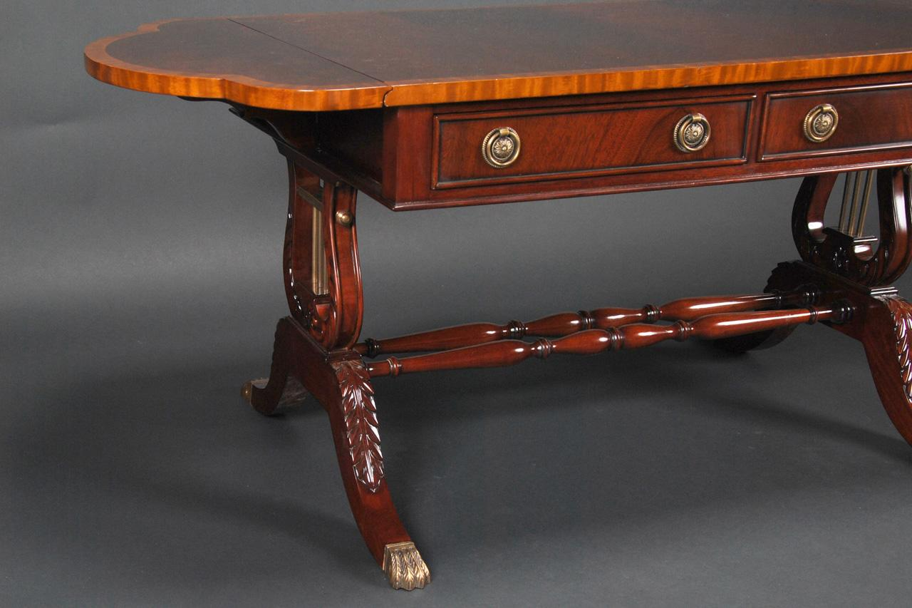 Duncan Phyfe Coffee Table, Antique Reproduction