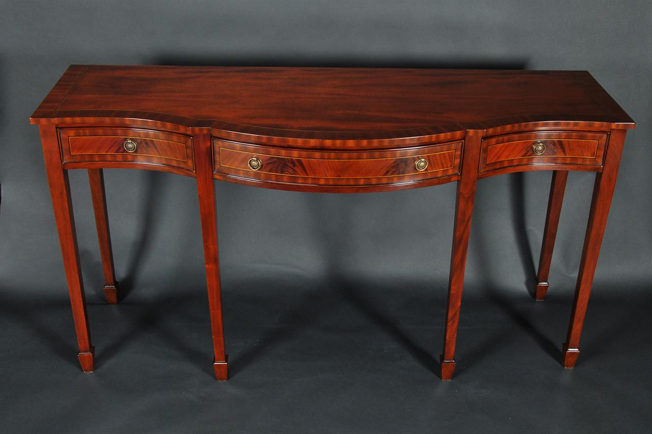 Mahogany Banded Sideboard/Console Table