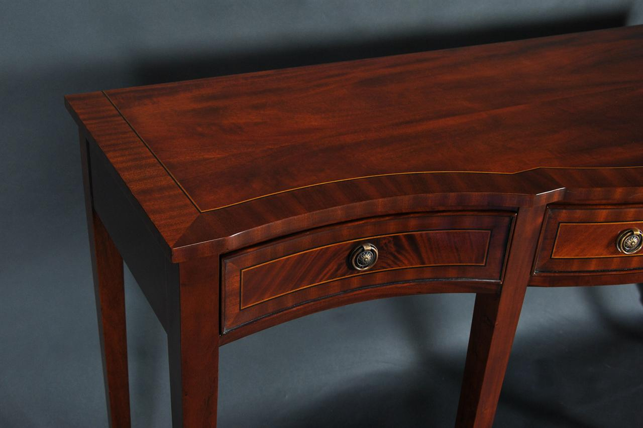 Mahogany Banded Sideboard/Console Table. Item# K NSB 046