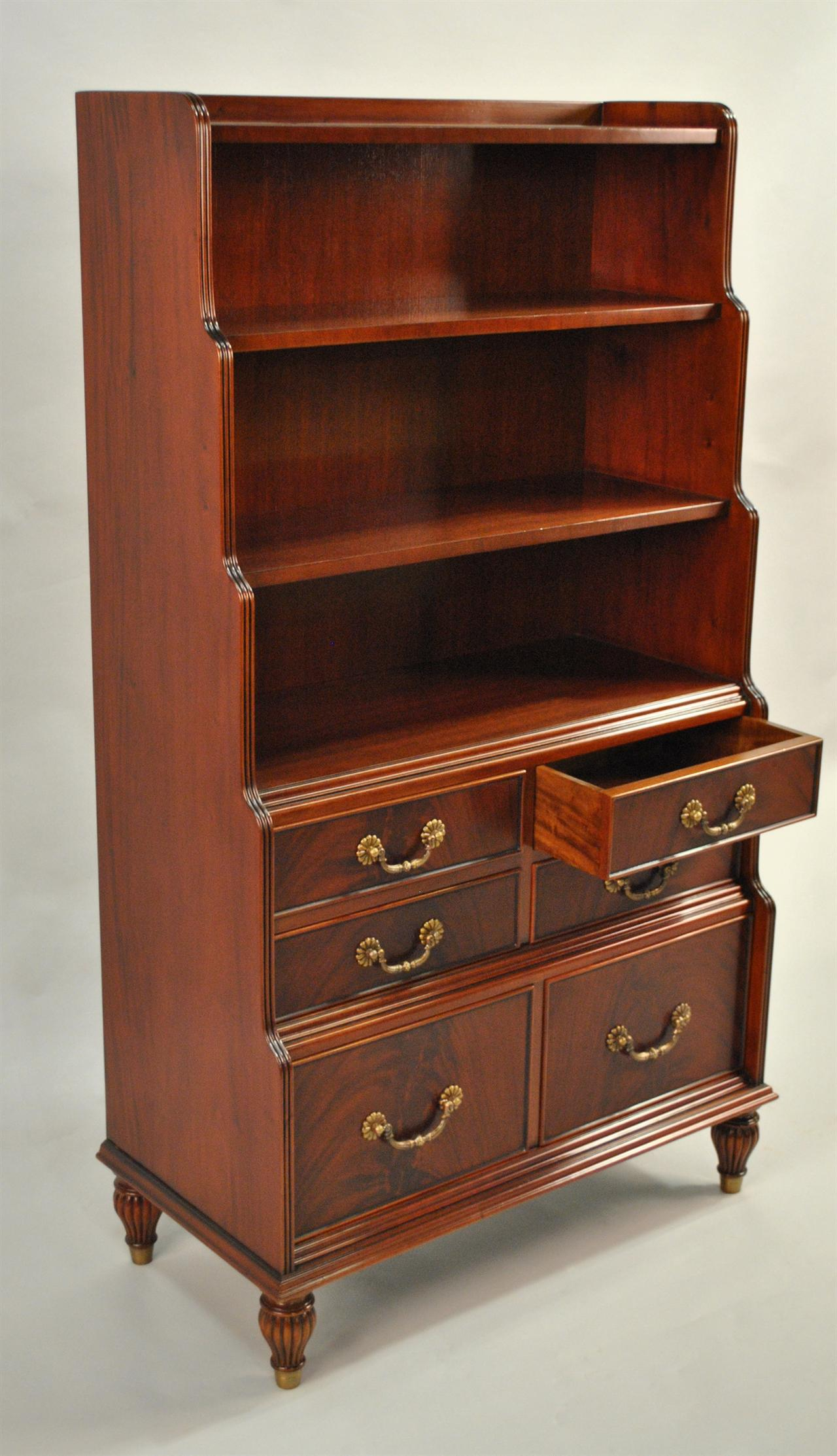 Mahogany Bookcase With Chest Of Drawers
