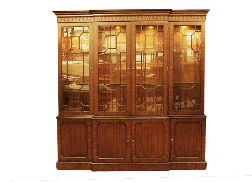 Delightful High End Traditional Mahogany China Cabinet Hutch