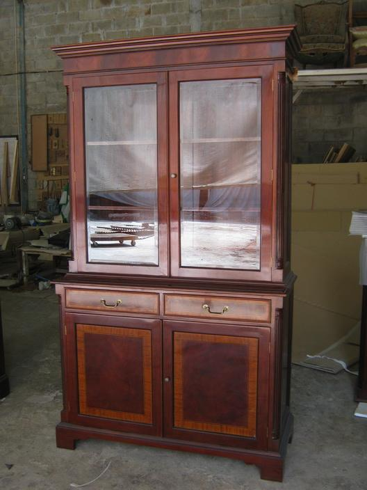 Two door high end mahogany china cabinet for High end entry doors