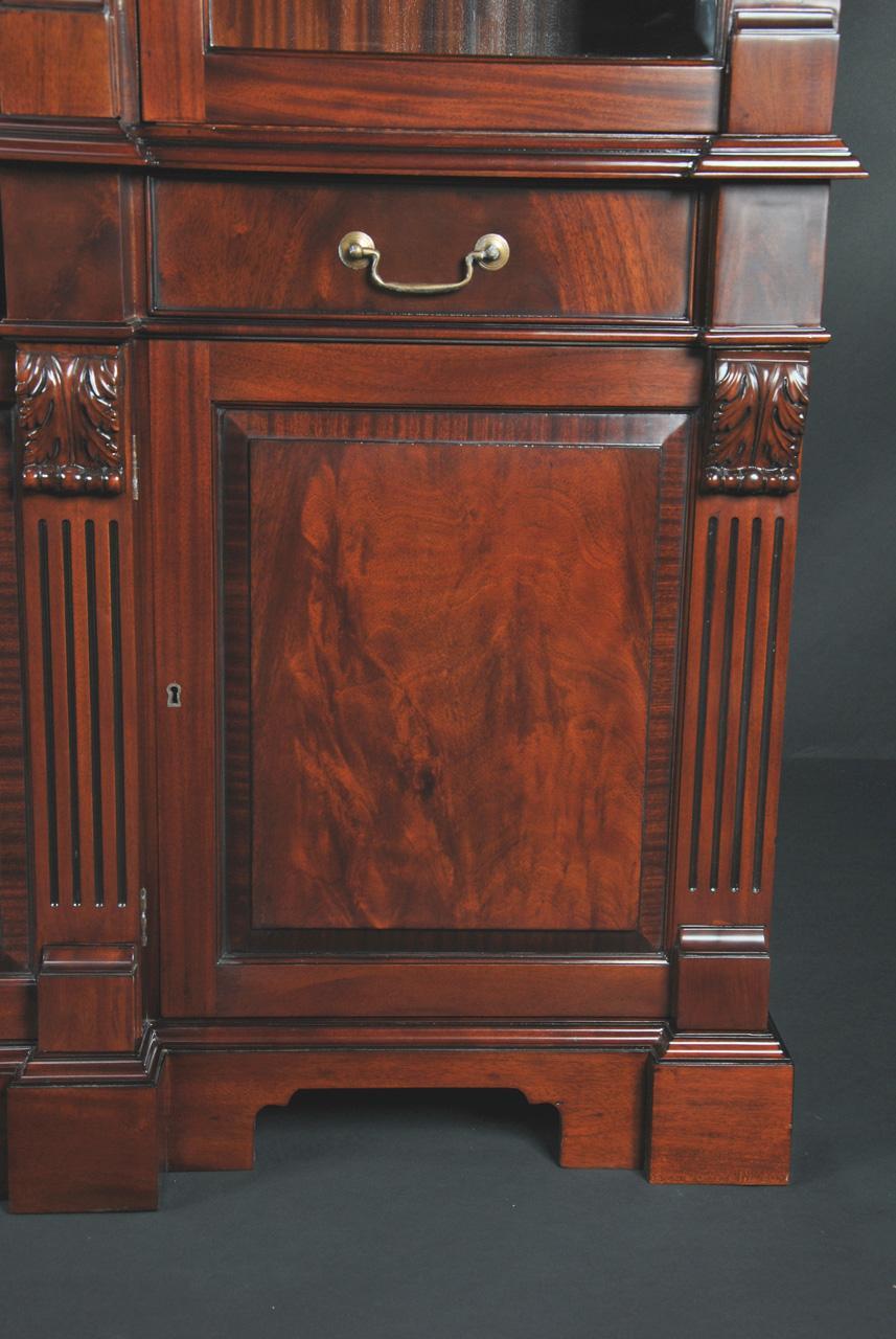 Mahogany China Cabinet High End Antique Reproduction