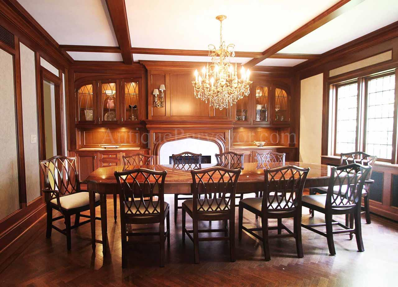 Mahogany chippendale chairs for elegant formal dining rooms for Pictures of formal dining rooms