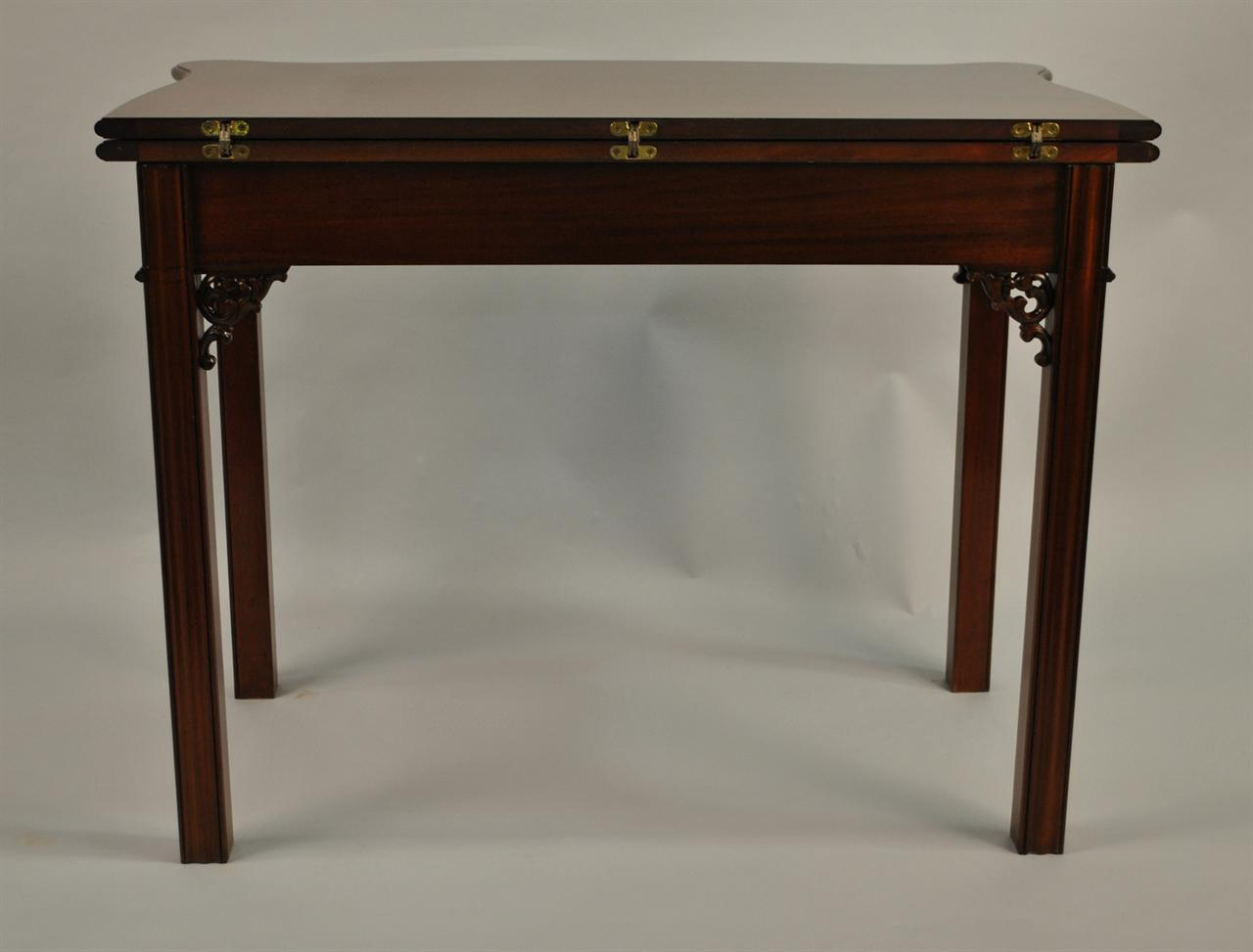 Mahogany Chippendale Games Table