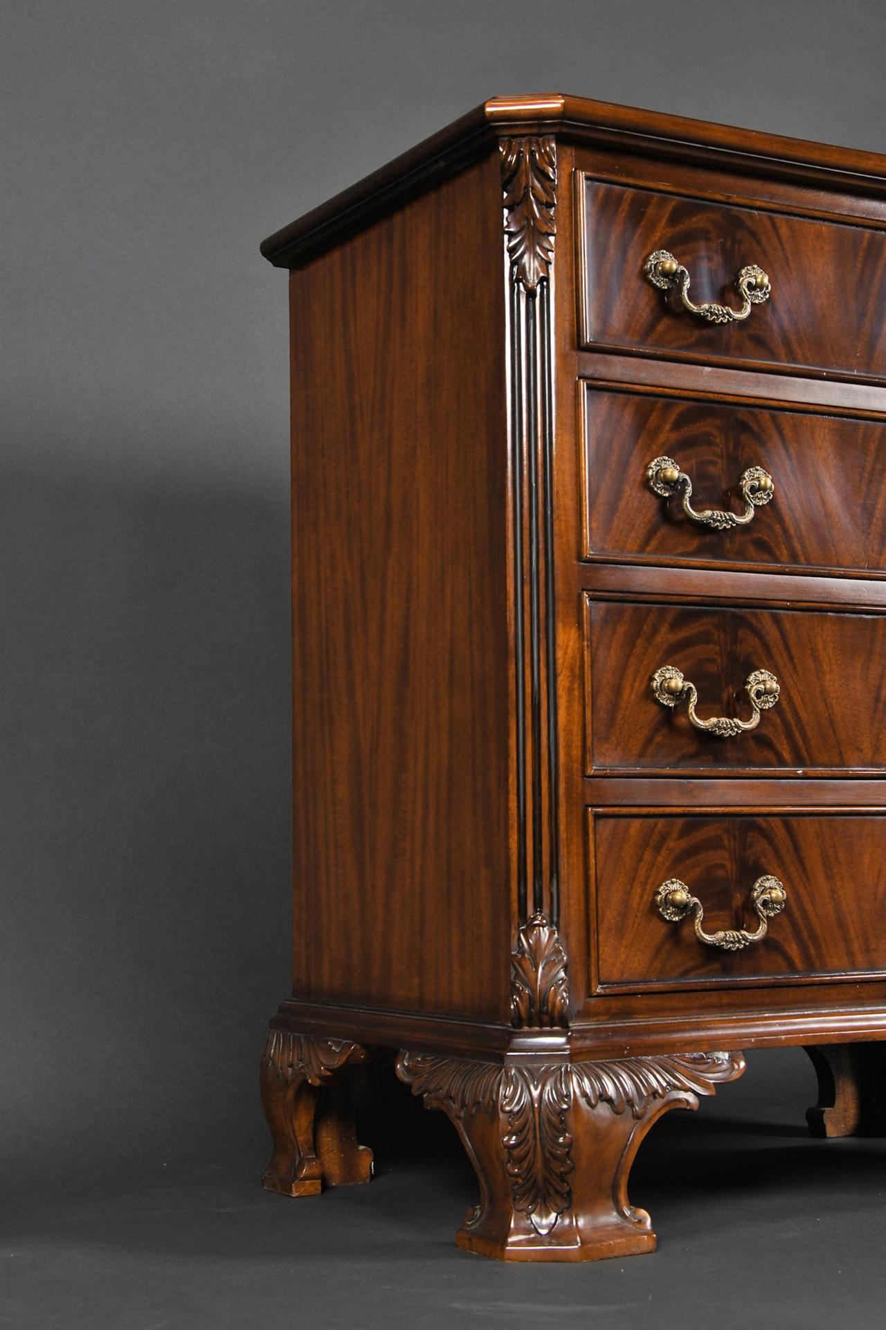 Mahogany Four Drawer Dovetailed Night Stand