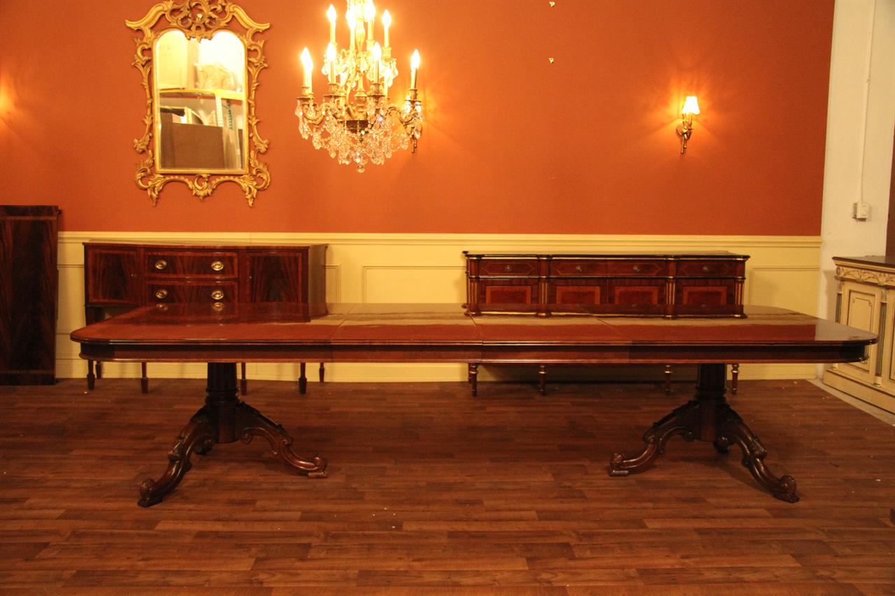 Quality reproduction mahogany antique dining table at discount price