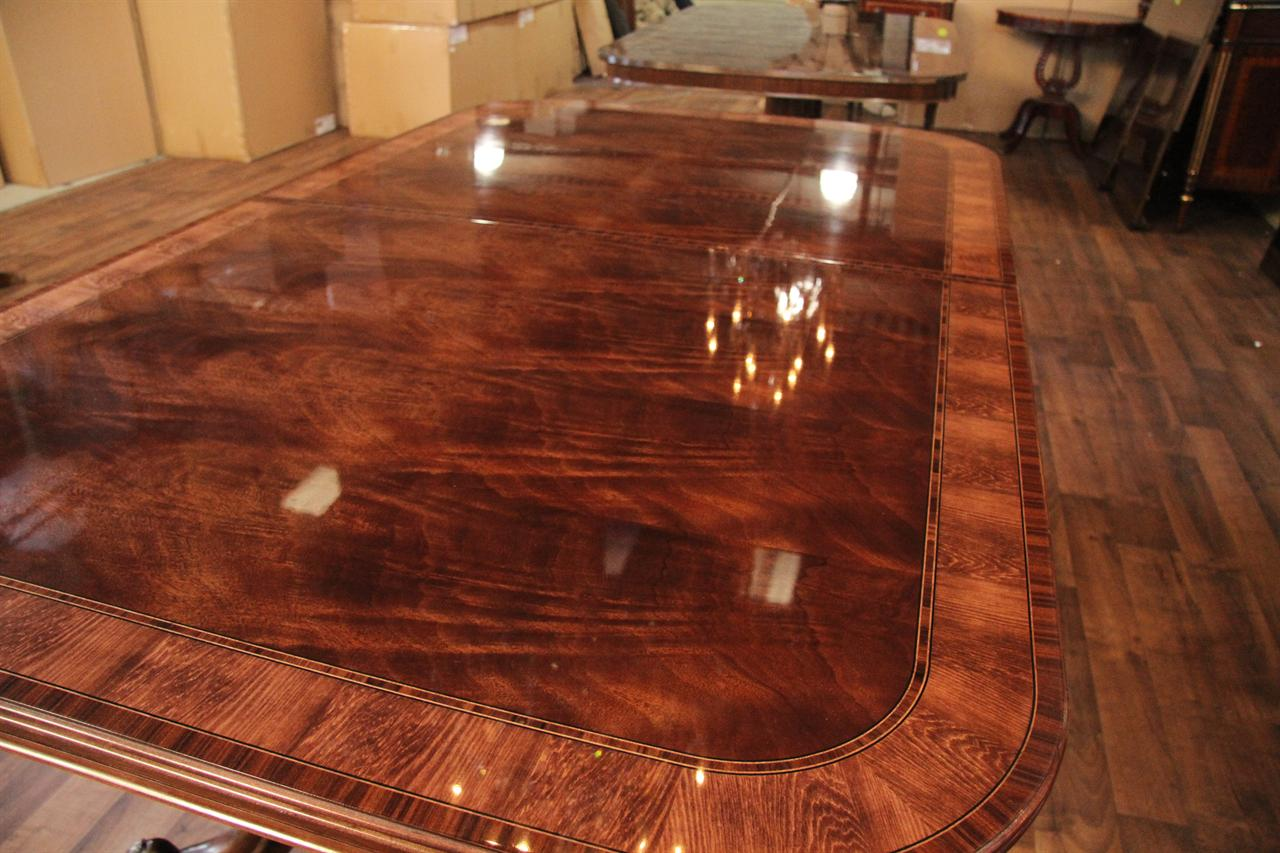 Reproduction French Style Mahogany Dining Or Conference Table - Large conference table for sale