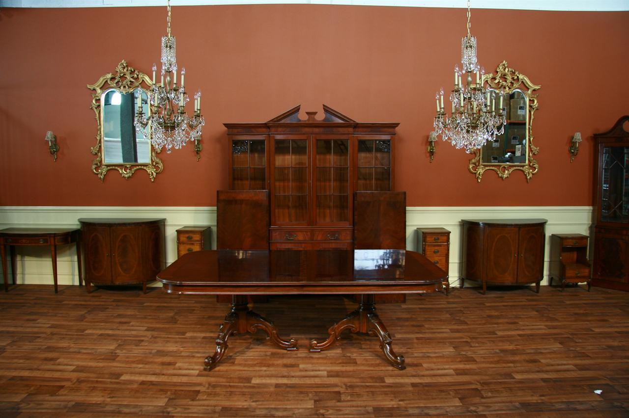 Reproduction French Style Mahogany Dining Or Conference Table - Expandable conference room table