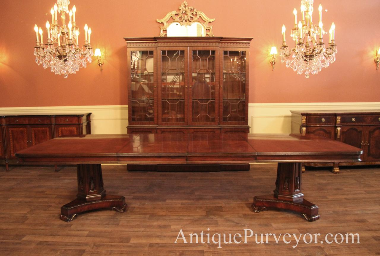Large Inexpensive Mahogany Conference Room Or Dining Room Table - Conference room table price
