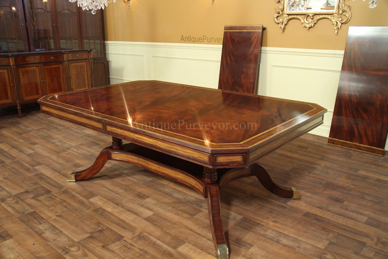 Mahogany Dining Table Or Conference Table With Self