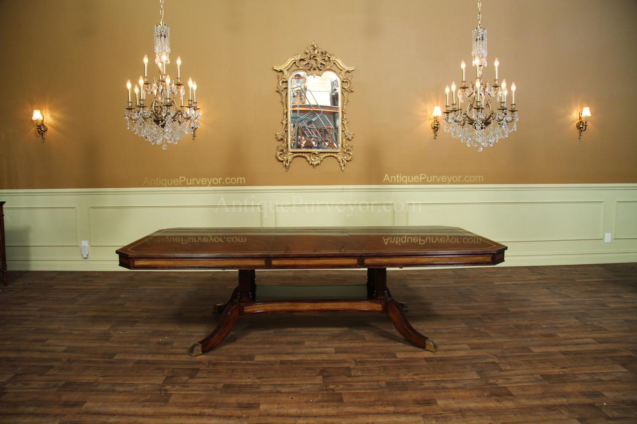 Mahogany dining table or conference table with self for 108 table seats how many