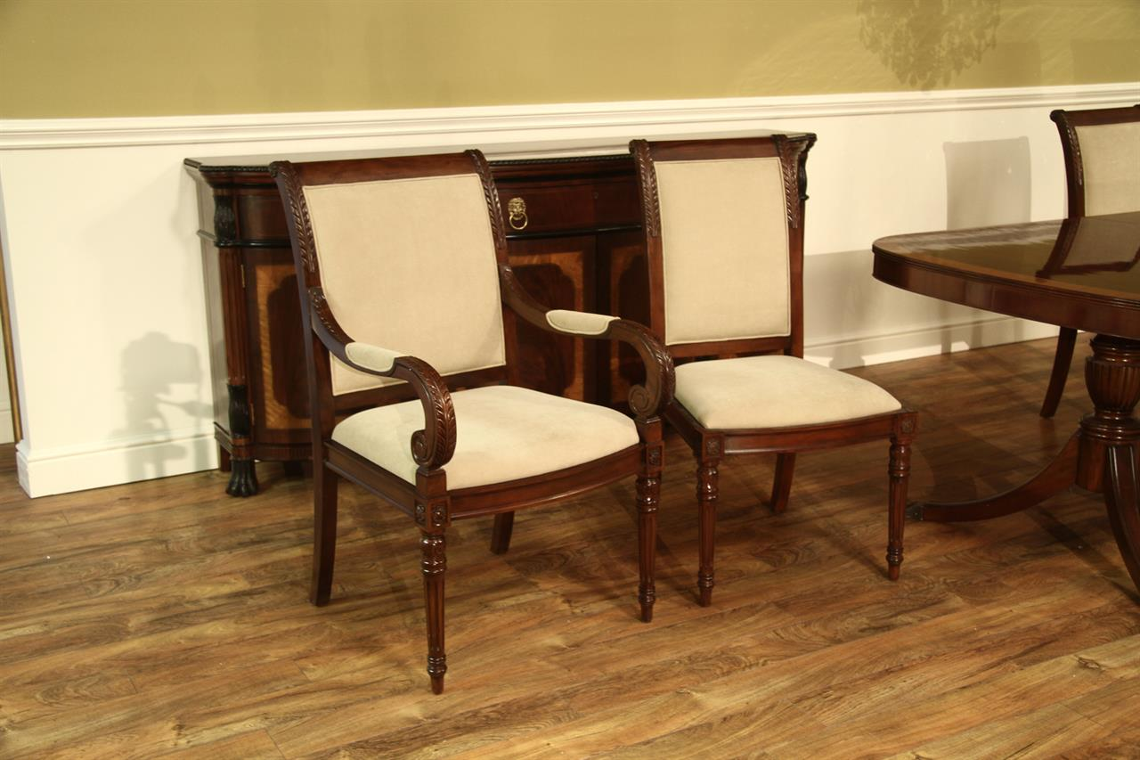 New french style upholstered dining room chairs stain proof for French style dining room furniture