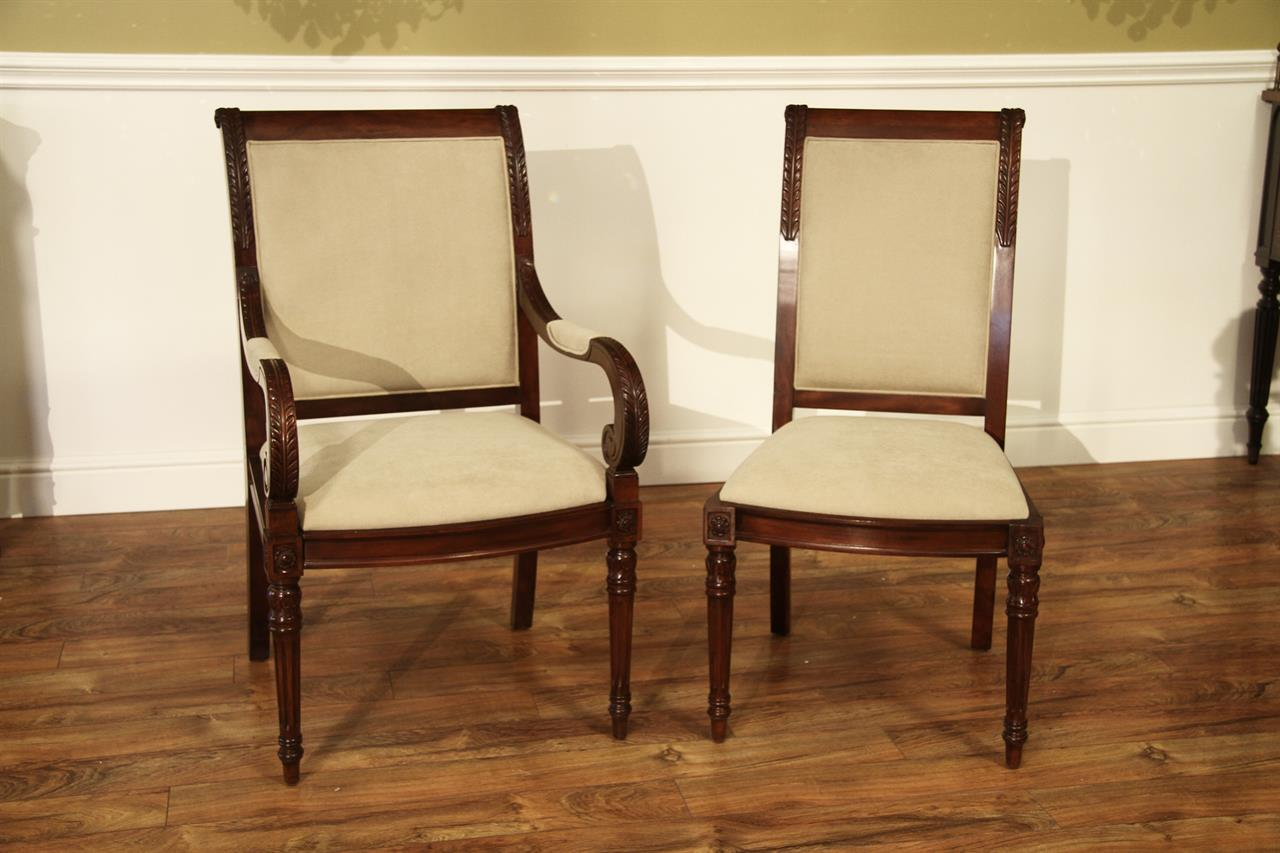 New French Style Upholstered Dining Room Chairs ~Stain Proof