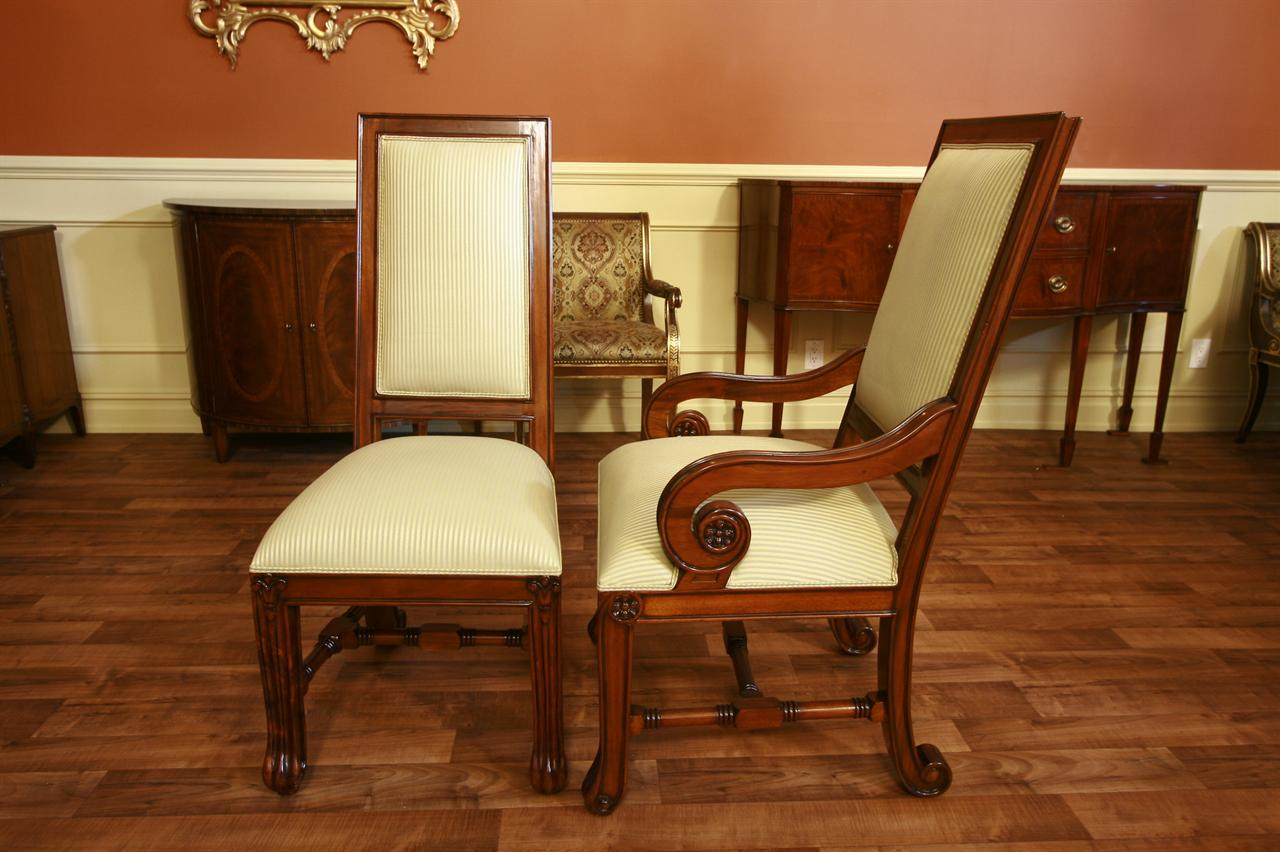 Chairs Dining Room: Large Mahogany Dining Room Chairs, Luxury Chairs