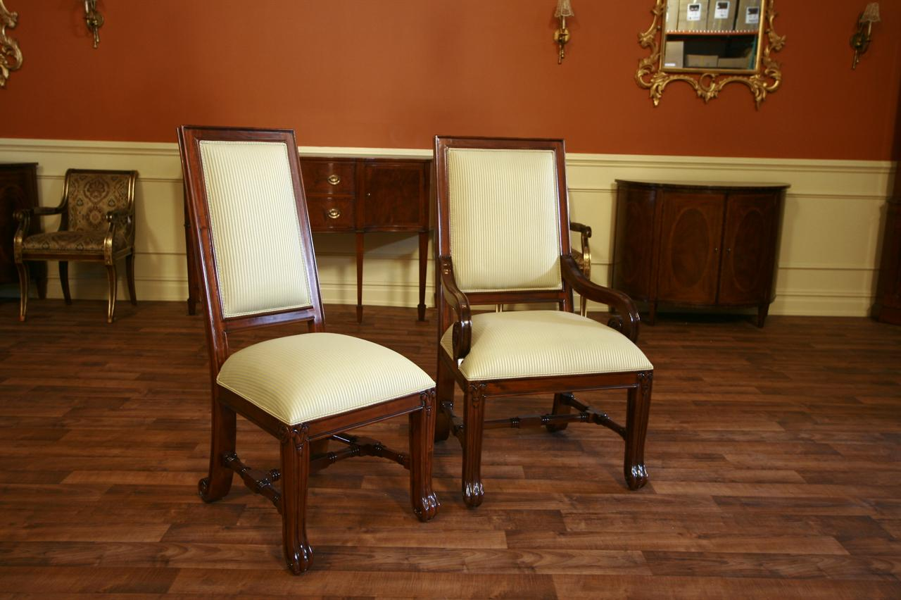 large mahogany dining room chairs luxury chairs upholstered dining chairs ebay. Black Bedroom Furniture Sets. Home Design Ideas